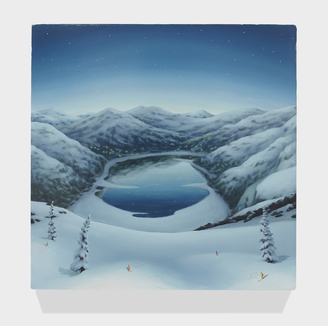 , 'MOUNTAINS WITH SKIERS 4,' 2015, Greg Kucera Gallery