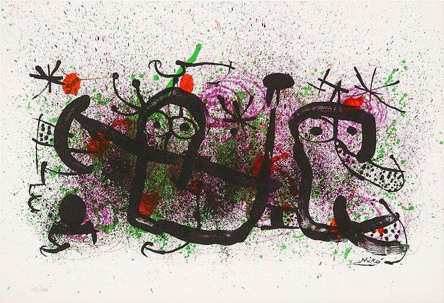 Joan Miró, 'Ma de Proverbis', 1970, Print, Original lithograph in colors on Arches paper, michael lisi / contemporary art