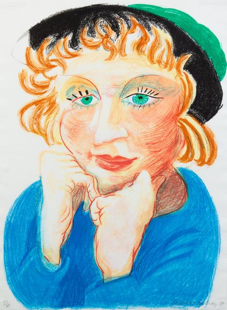 David Hockney, 'Celia with Green Hat', 1984, Hindman