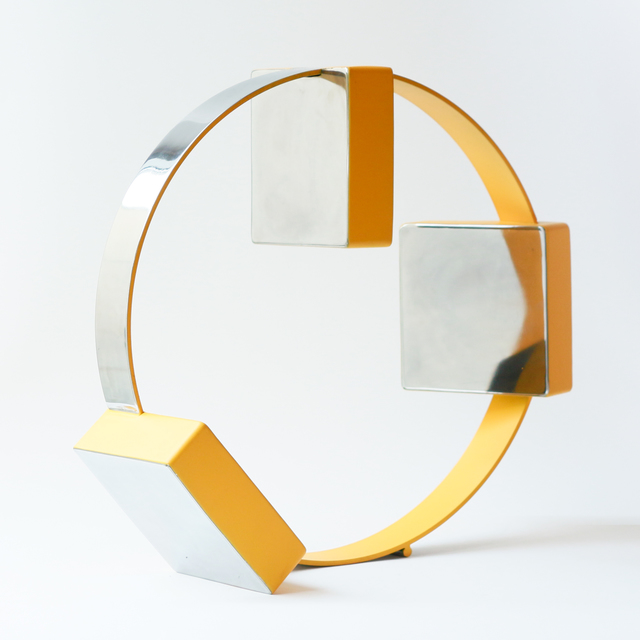 Philippe Pallafray, 'Boxes (Yellow)', 2020, Sculpture, Stainless Steel, Newzones
