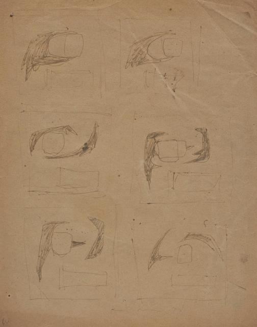 Lucio Fontana, 'Studi per parete spaziale', 1957, Cosmocosa
