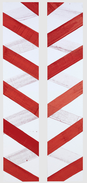 Hadas Hassid, 'Untitled (Paper Wrapped by Red Line)', 2012, IAILA