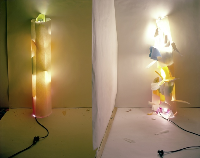 , '(No. 131) Light In and Out of White Tube with Multi Colors Inside,' 1979/2012, Gavlak