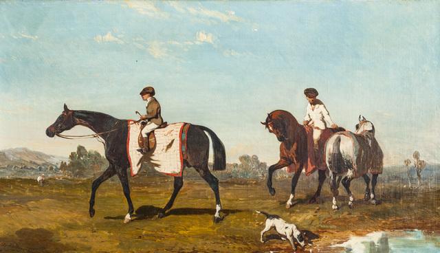 Alfred De Dreux, 'La promenade des chevaux', DIGARD AUCTION