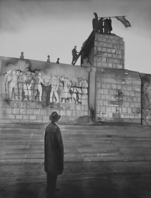 Radenko Milak, 'HUNGARY. Budapest. Insurrection. October-November 1956. A pair of bronze boots is all that is left of huge Stalin monument ', 2019, Ani Molnár Gallery