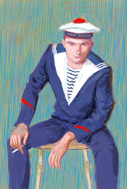 David Hockney, 'Matelot Kevin Druez I', 2009, L.A. Louver