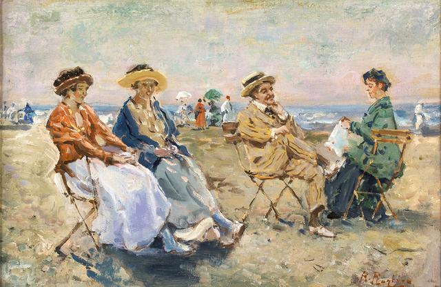 Raffaele Ragione, 'Figures on the beach', Bertolami Fine Arts