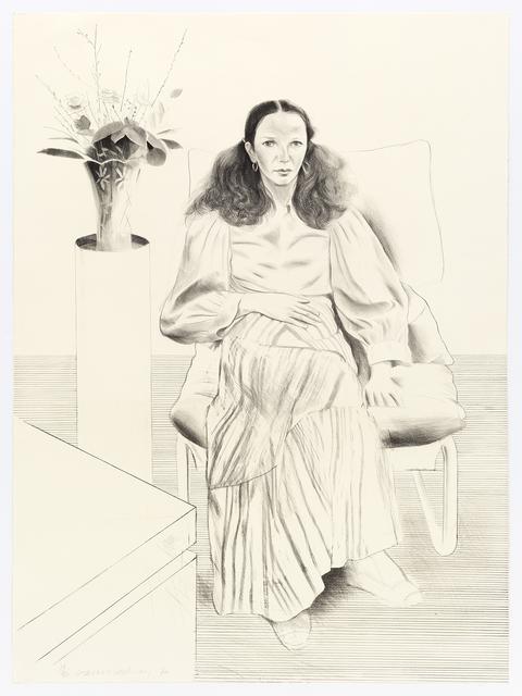 David Hockney, 'Brooke Hopper', 1976, Print, Lithograph, Mary Ryan Gallery, Inc