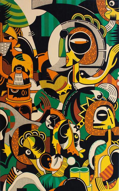 , 'Surfer Rococo - Madrigal I |冲浪洛可可:冲浪洛可可:牧歌 I,' 2019, Galerie Dumonteil