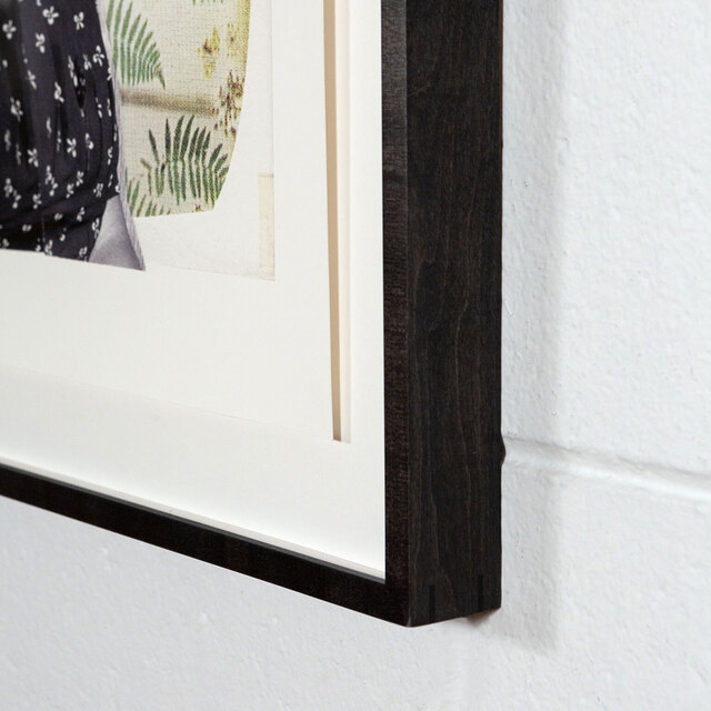 Mickalene Thomas, 'Clarivel with Black Blouse and White Ribbon', 2016, Print, Epson Inkjet print with HDR Ultrachrome inks, Caviar20