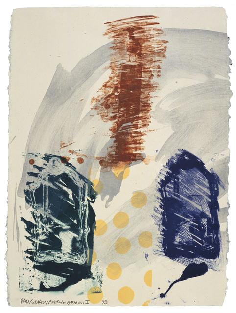 Robert Rauschenberg, 'Bird Dock', 1993, Print, 6 color lithograph, Gemini G.E.L.
