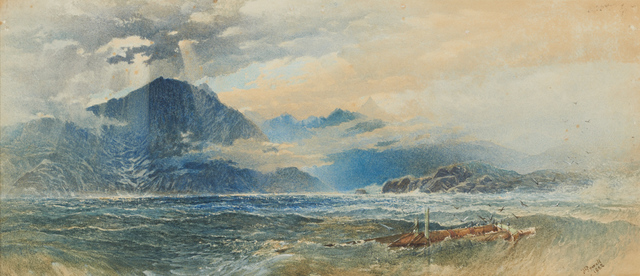 , 'Scene on a Scottish Lake,' 1882, Clark Art Institute