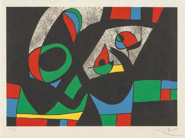 Joan Miró, 'Le Lezard aux Plumes d'Or, Plate V', 1971, Fairhead Fine Art Limited