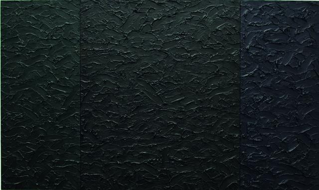 , 'Icon 66 x 111 pthalo green/ van dyke brown/ phtalo blue,' 1988, Galerie Hans Mayer