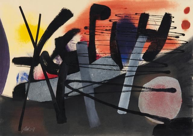 , 'Vor Rot und Gelb,' 1951, Galerie Utermann