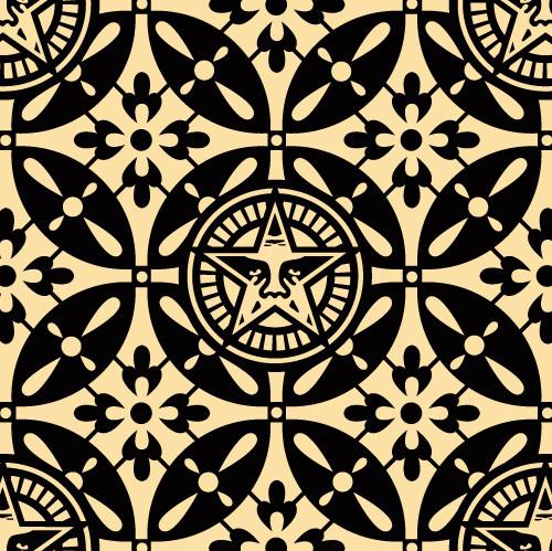 Shepard Fairey, 'Japanase Pattern 2 -black', 2009, DIGARD AUCTION