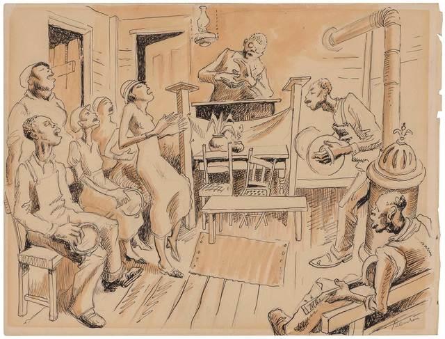 Thomas Hart Benton, 'Songfest', Doyle
