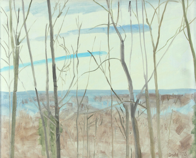 Lois Dodd, 'Winter Landscape From White House Flatbrookville', 1976, Painting, Oil on Masonite, Alexandre Gallery