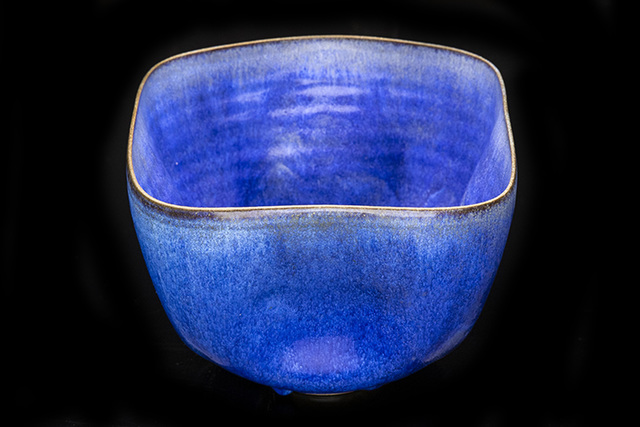 Otto Natzler, 'Ceramic Dimpled vessel in Cobalt Hares Fur Glaze', 1982, Modern Artifact