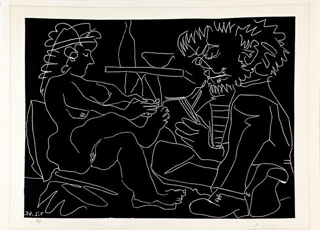 Pablo Picasso, 'Peintre dessinant et modele nu au chapeau', 1965, Fairhead Fine Art Limited