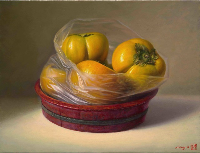 , 'Persimmons in a Bow,' 2018, East Gallery