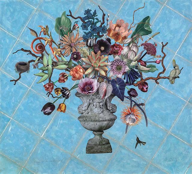 Jane Hammond, 'Garden Urn with Angelica, Milkweed and Cockatoo', 2019, Lyndsey Ingram