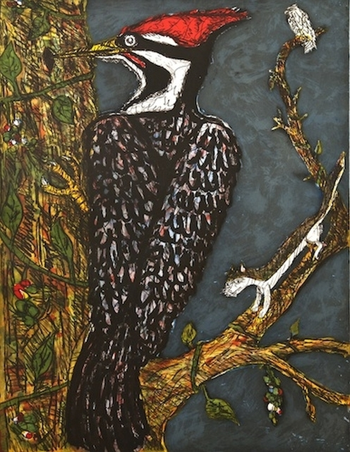 , 'Pileated Woodpecker,' 2014, William Campbell Contemporary Art, Inc.