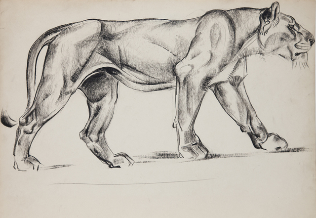 , 'Big Cats: Lioness Stalking,' 1940, Cade Tompkins Projects