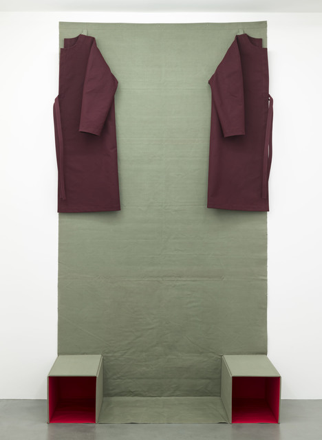 , 'Two Pedestals. Parted Coat (Wall Formation series),' 1981, Galerie Jocelyn Wolff