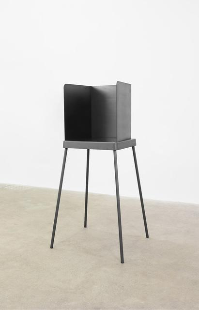 Adam McEwen, 'Voting Booth', 2017, Sculpture, Graphite, Gagosian