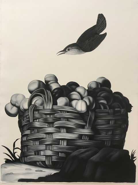 Shelley Reed, 'Basket of Fruit (after Tintore and Audubon)', 2020, Painting, Oil on paper, Visions West Contemporary