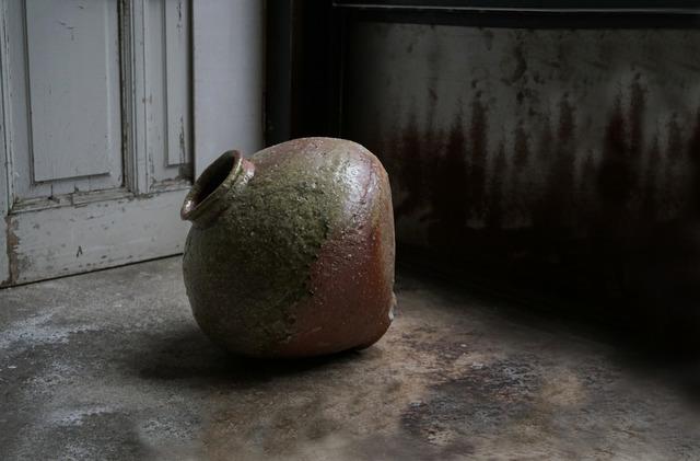 , '自然自然釉丸壷大 Round large jar natural ash glazed,' , Kami ya Co., Ltd.