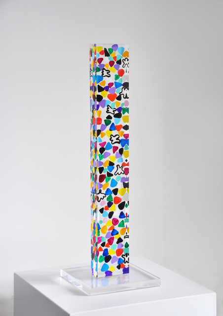 Susi Kramer, 'Color forest ', 2015, Sculpture, Acrylic glass, painting on one side, Claudine Gil