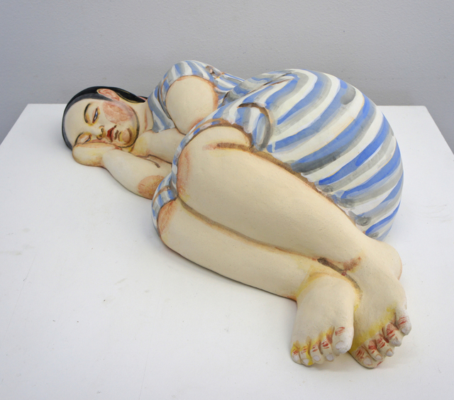 , 'Sleeping Woman in Blue and White Stripe Dress,' 2013, Duane Reed Gallery