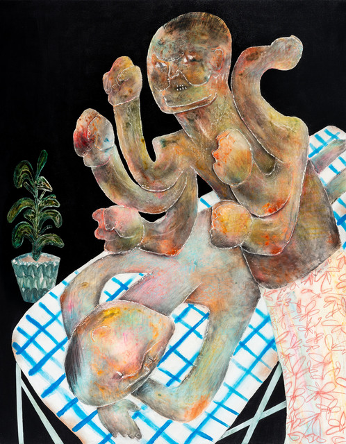 Lai Wei-Yu, 'The Massage', 2018, Painting, Acrylic and Charcoal on Canvas, Yiri Arts
