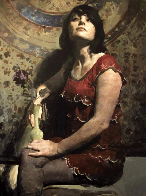 , 'Black Rose,' , Sirona Fine Art