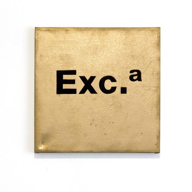 , 'Exc.,' 2016, El Apartamento