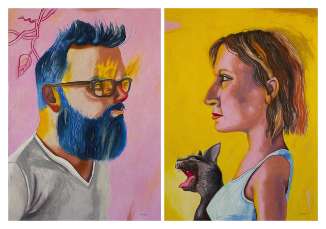 , 'Amantes (Diptych),' 2016, Cuban Contemporary