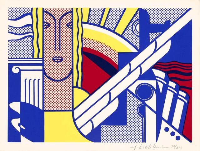 Roy Lichtenstein, 'Modern Art Poster (Corlett Ii.8)', 1967, Print, Color screenprint on smooth cream wove paper, Doyle
