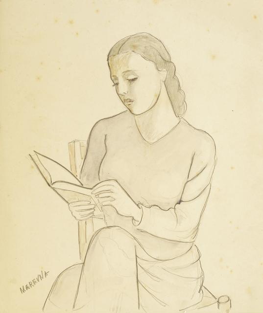 Marie Vorobieff Marevna, 'Woman reading', c.1930s, Roseberys