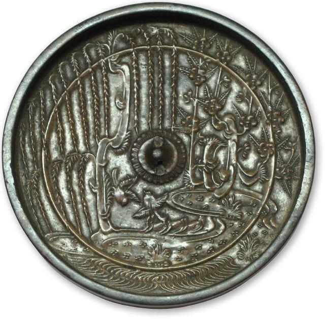 , 'bronze mirror (kagami),' 13-14th C., Scholten Japanese Art
