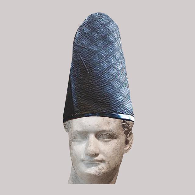, 'Roman Emperor Domitian/Blue Japanese Shinto Hat,' 2018, JAUS