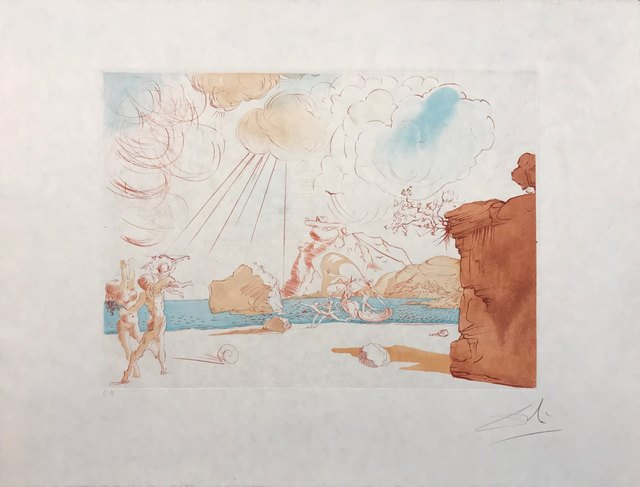 Salvador Dalí, 'Plage de Cadaques', 1967, Drawing, Collage or other Work on Paper, Etching + original engraving, Dali Paris