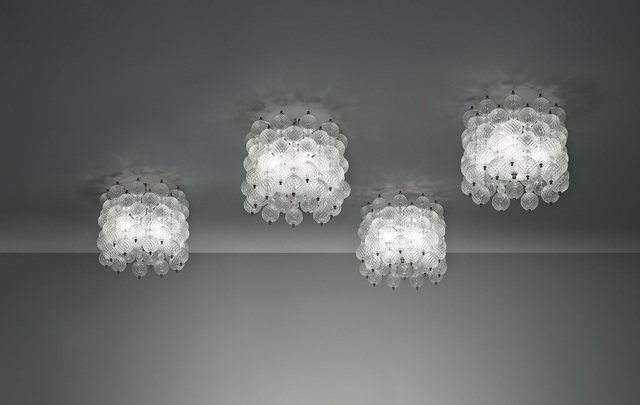 "Venini, 'Set of four ""Balloton"" ceiling lights', circa 1957, Phillips"