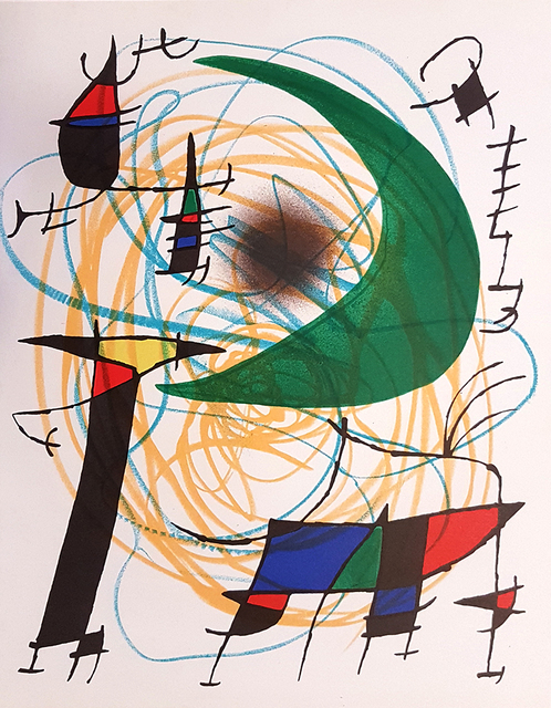 Joan Miró, 'Mirò Lithographe I - Plate V', 1972, Wallector
