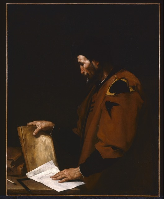 Jusepe de Ribera, 'Aristotle', 1637, Painting, Oil on canvas, Indianapolis Museum of Art at Newfields