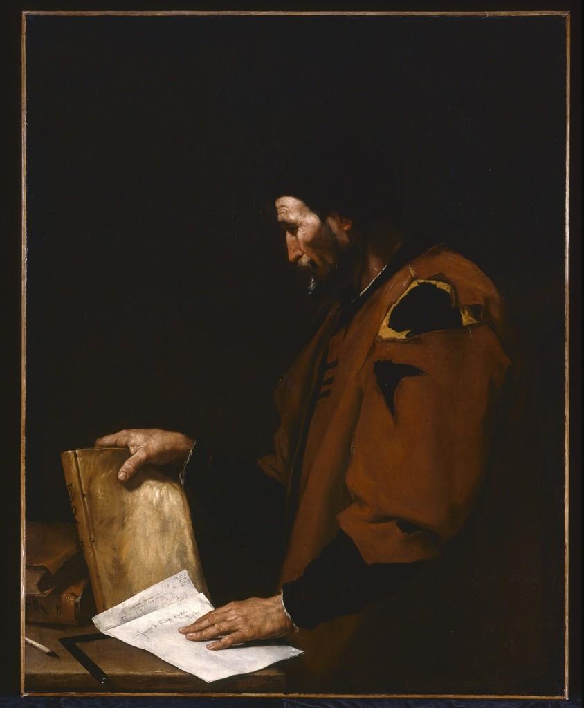 José de Ribera (Jusepe de Ribera, lo Spagnoletto), 'Aristotle,' 1637, Indianapolis Museum of Art