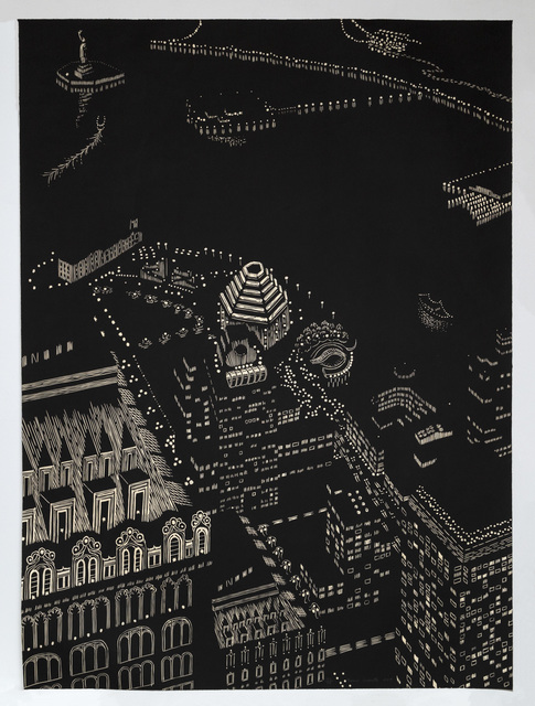 Yvonne Jacquette, 'New York Harbor Composite, Woodcut', 2003, Mary Ryan Gallery, Inc