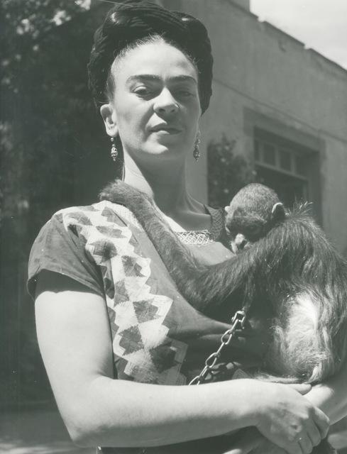 , 'Frida in Front of Studio with Monkey, Coyoacan,' 1946, Bentley Gallery