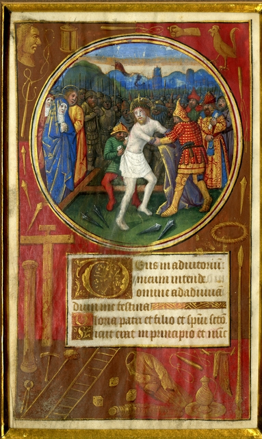 , 'The Disrobing of Christ, on a leaf from a Book of Hours ,' c. 1490-1500 , Les Enluminures